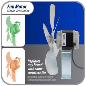 Motor 1/3hp 1075/995/775rpm 230v/60hz 2 Shaft Ccw 3686