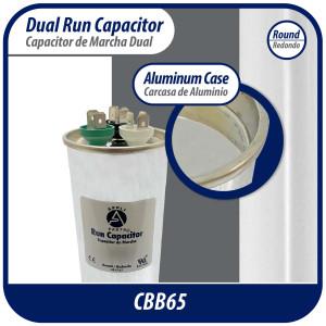 Appli Parts Run Capacitor 20 Mfd uF (microfarads) 370 VAC Round CON-20-370-R Replaces CAP-20-370-R